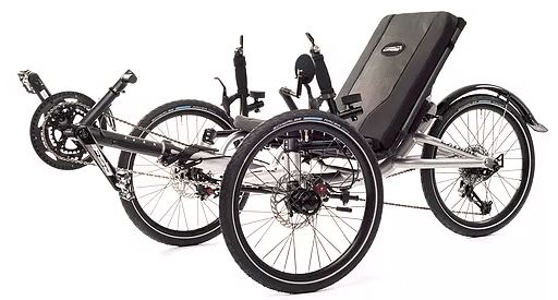 Catrike Villager Recumbent Trike. Shown in Moon Rock Silver.