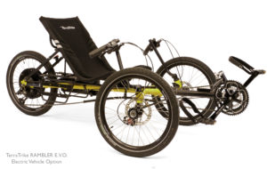 TerraTrike EVO Electric Assist Recumbent Trike