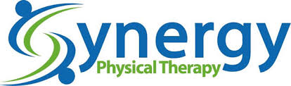 Blue and green logo that reads Synergy Physical Therapy