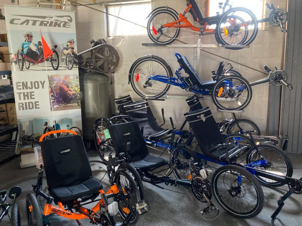 A selection of available trikes
